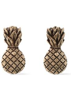 Valentino Garavani Woman Burnished Gold-tone Clip Earrings Gold