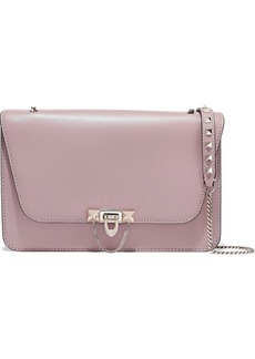 Valentino Garavani Woman Demilune Leather Shoulder Bag Lilac