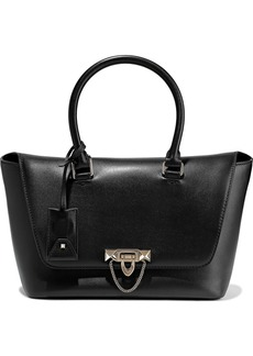 Valentino Garavani Woman Demilune Leather Tote Black