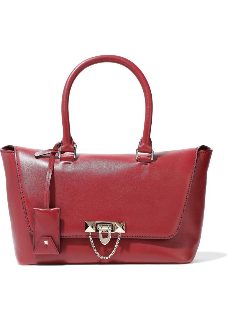 Valentino Garavani Woman Demilune Leather Tote Crimson