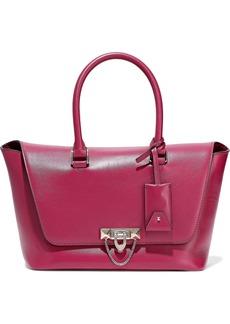 Valentino Garavani Woman Demilune Leather Tote Magenta