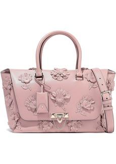 Valentino Garavani Woman Demilune Studded Appliquéd Leather Shoulder Bag Antique Rose