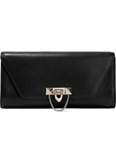 Valentino Garavani Woman Demilune Studded Leather Clutch Black