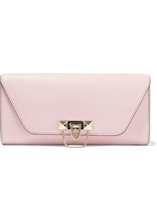 Valentino Garavani Woman Demilune Studded Leather Clutch Baby Pink