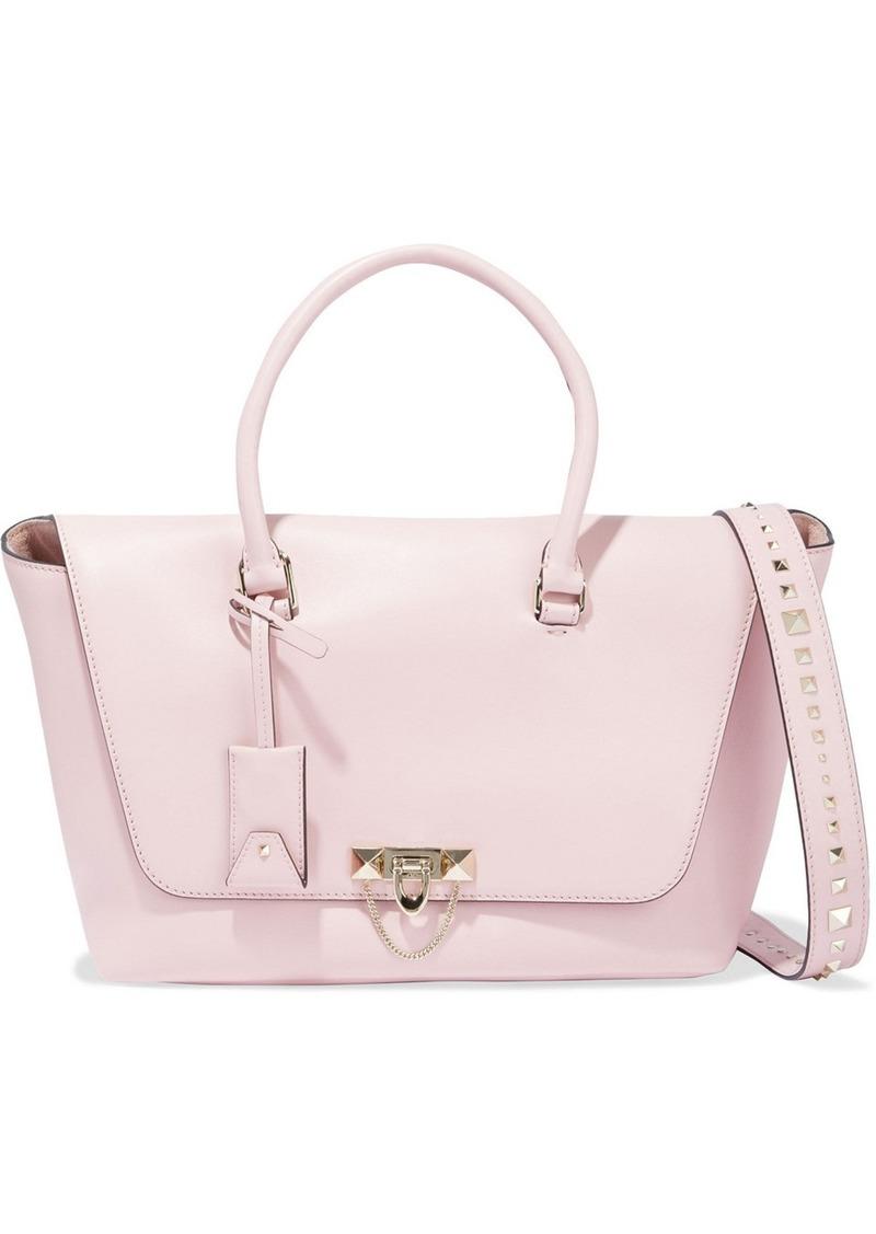 Valentino Garavani Woman Demilune Studded Leather Tote Baby Pink
