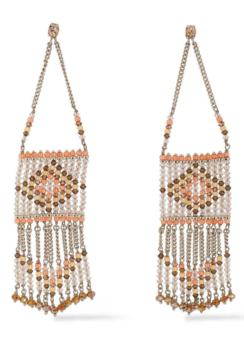 Valentino Garavani Woman Gold-tone Bead Earrings Peach