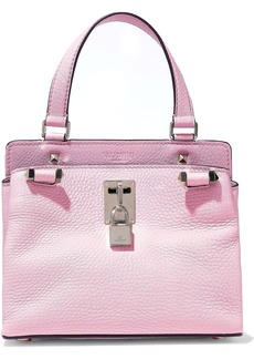 Valentino Garavani Woman Embellished Pebbled-leather Shoulder Bag Baby Pink