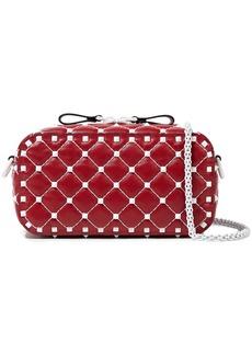 Valentino Garavani Woman Free Rockstud Spike Quilted Leather Shoulder Bag Red
