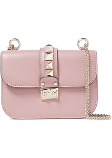 Valentino Garavani Woman Glam Lock Studded Leather Shoulder Bag Blush