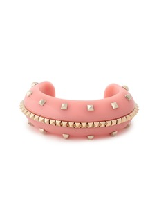 Valentino Garavani Woman Gold-tone Acetate Cuff Pink