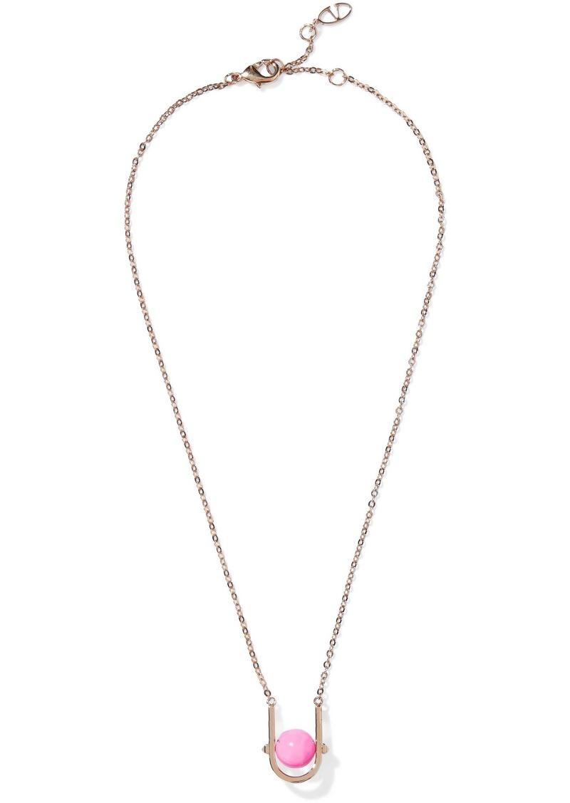 Valentino Garavani Woman Gold-tone Beaded Necklace Gold