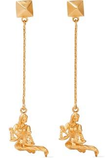 Valentino Garavani Woman Gold-tone Clip Earrings Gold