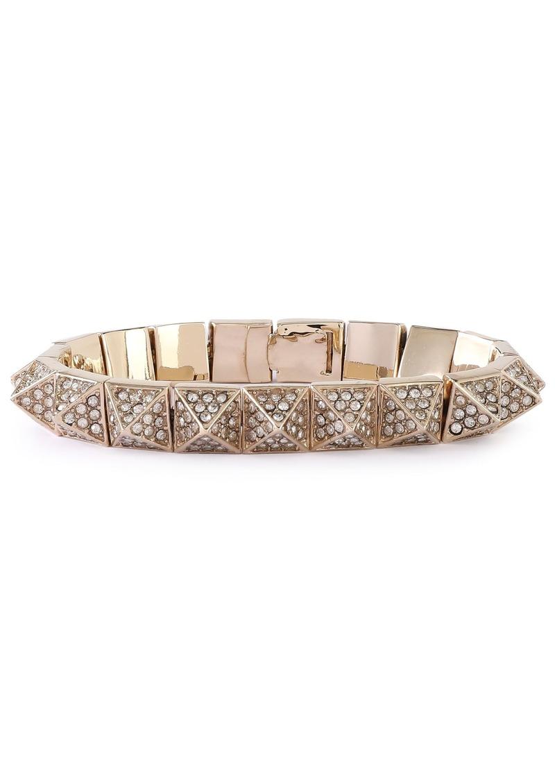 Valentino Garavani Woman Gold-tone Crystal Bracelet Gold