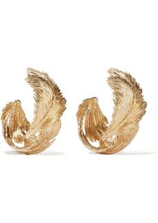 Valentino Garavani Woman Gold-tone Hoop Earrings Gold
