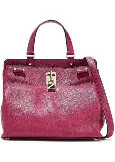 Valentino Garavani Woman Joylock Pebbled-leather Shoulder Bag Magenta