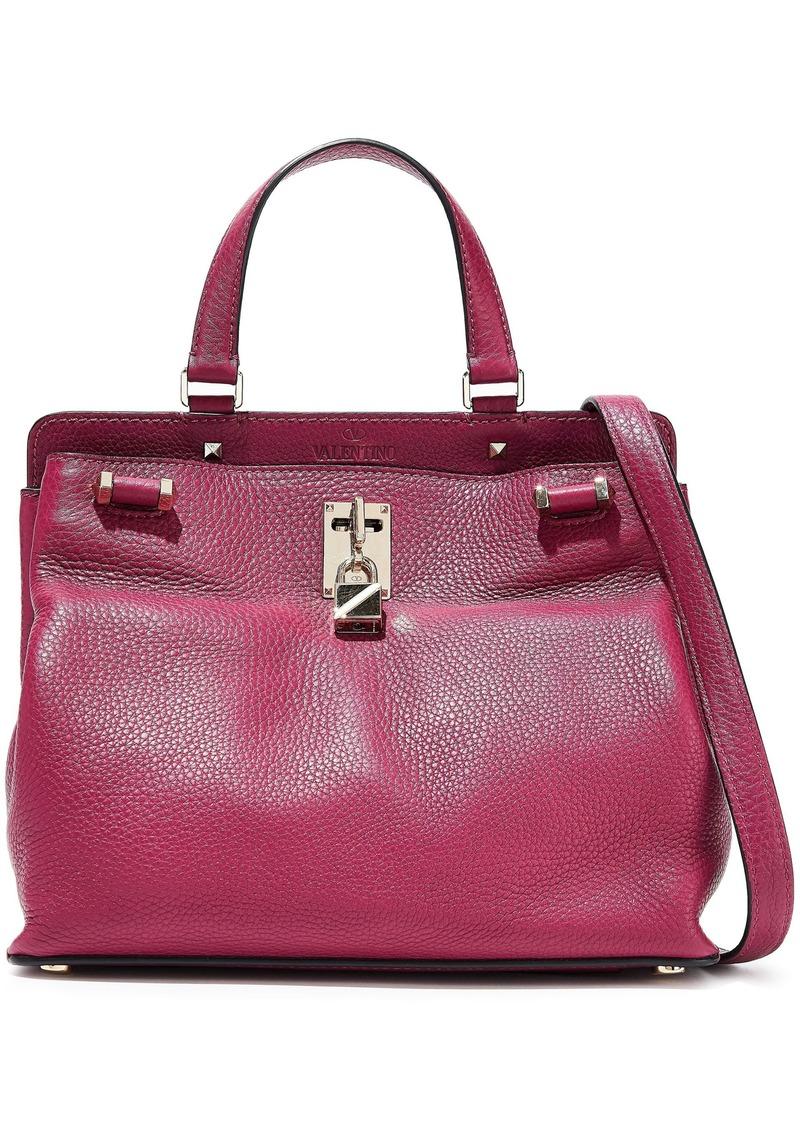 Valentino Garavani Woman Joylock Pebbled-leather Shoulder Bag Magenta