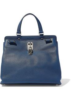 Valentino Garavani Woman Joylock Pebbled-leather Shoulder Bag Storm Blue