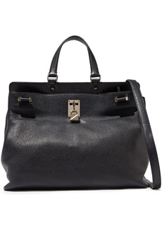 Valentino Garavani Woman Joylock Textured-leather Tote Black