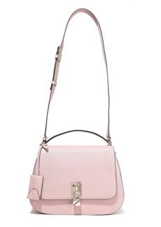 Valentino Garavani Woman Joylock Textured-leather Shoulder Bag Baby Pink