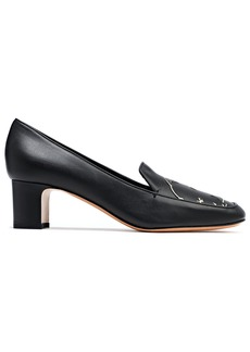 Valentino Garavani Woman Laser-cut Leather Pumps Black
