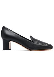 Valentino Garavani Woman Laser-cut Leather Pumps Black