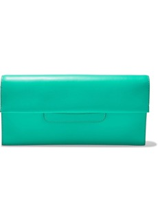 Valentino Garavani Woman Leather Clutch Jade