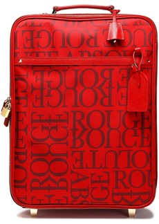 Valentino Garavani Woman Leather-trimmed Printed Twill Suitcase Red