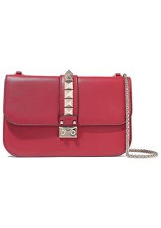 Valentino Garavani Woman Lock Leather Shoulder Bag Claret