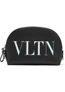 Valentino Garavani Woman Logo-print Leather Cosmetics Case Black