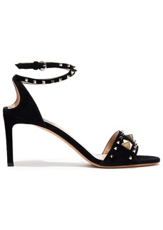 Valentino Garavani Woman Lovestud Suede Sandals Black