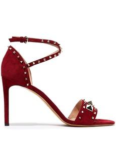 Valentino Garavani Woman Lovestud Suede Sandals Claret