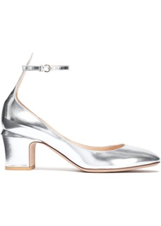 Valentino Garavani Woman Metallic Leather Pumps Silver