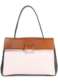 Valentino Garavani Woman Mime Color-block Leather Tote Black