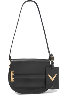 Valentino Garavani Woman My Rockstud Leather Shoulder Bag Black