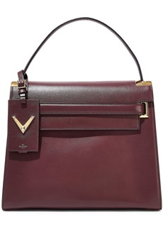 Valentino Garavani Woman My Rockstud Leather Tote Merlot