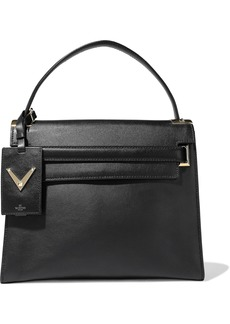 Valentino Garavani Woman My Rockstud Leather Tote Black