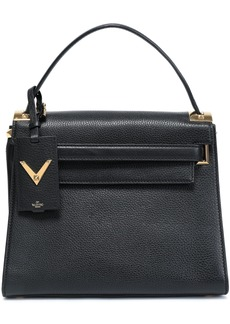 Valentino Garavani Woman My Rockstud Pebbled-leather Tote Black