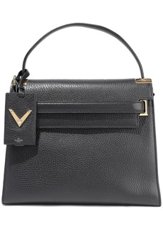Valentino Garavani Woman My Rockstud Textured-leather Tote Black