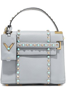 Valentino Garavani Woman My Rockstud Rolling Textured-leather Tote Sky Blue