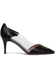 Valentino Garavani Woman Pvc And Gathered Leather Pumps Black