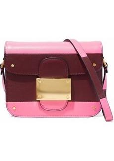 Valentino Garavani Woman Rivet Color-block Leather Shoulder Bag Pink