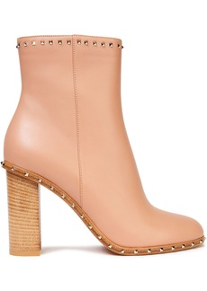 Valentino Garavani Woman Rockstud Leather Ankle Boots Blush