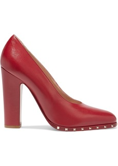 Valentino Garavani Woman Rockstud Leather Pumps Red