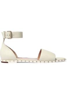 Valentino Garavani Woman Rockstud Leather Sandals Ivory