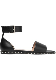 Valentino Garavani Woman Rockstud Leather Sandals Black