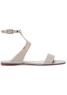 Valentino Garavani Woman Rockstud Leather Sandals Neutral