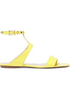 Valentino Garavani Woman Rockstud Leather Sandals Bright Yellow