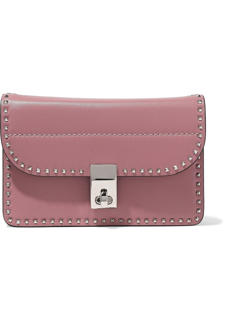 Valentino Garavani Woman Rockstud Leather Shoulder Bag Antique Rose