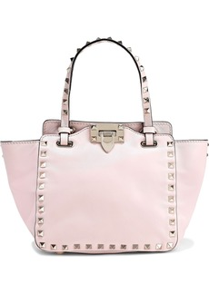 Valentino Garavani Woman Rockstud Leather Shoulder Bag Baby Pink