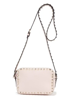 Valentino Garavani Woman Rockstud Leather Shoulder Bag Pastel Pink